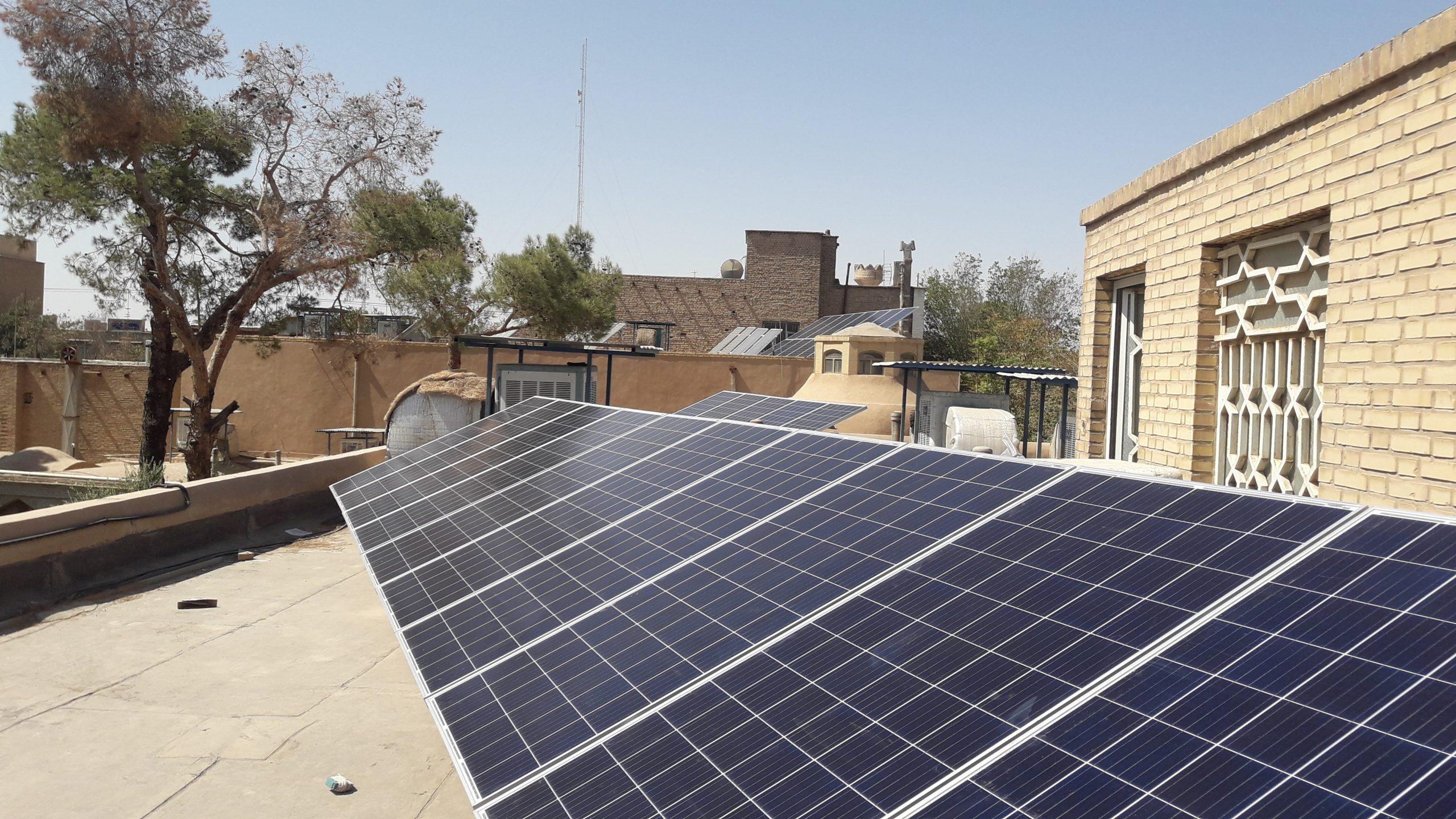 احداث نیروگاه خورشیدی استان یزد